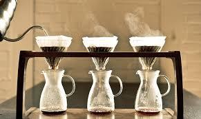 手沖咖啡在萃取咖啡的過程快速